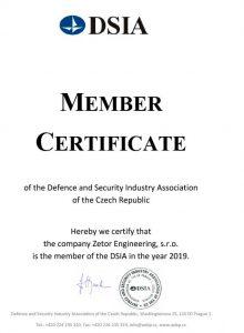 Certificate DSIA
